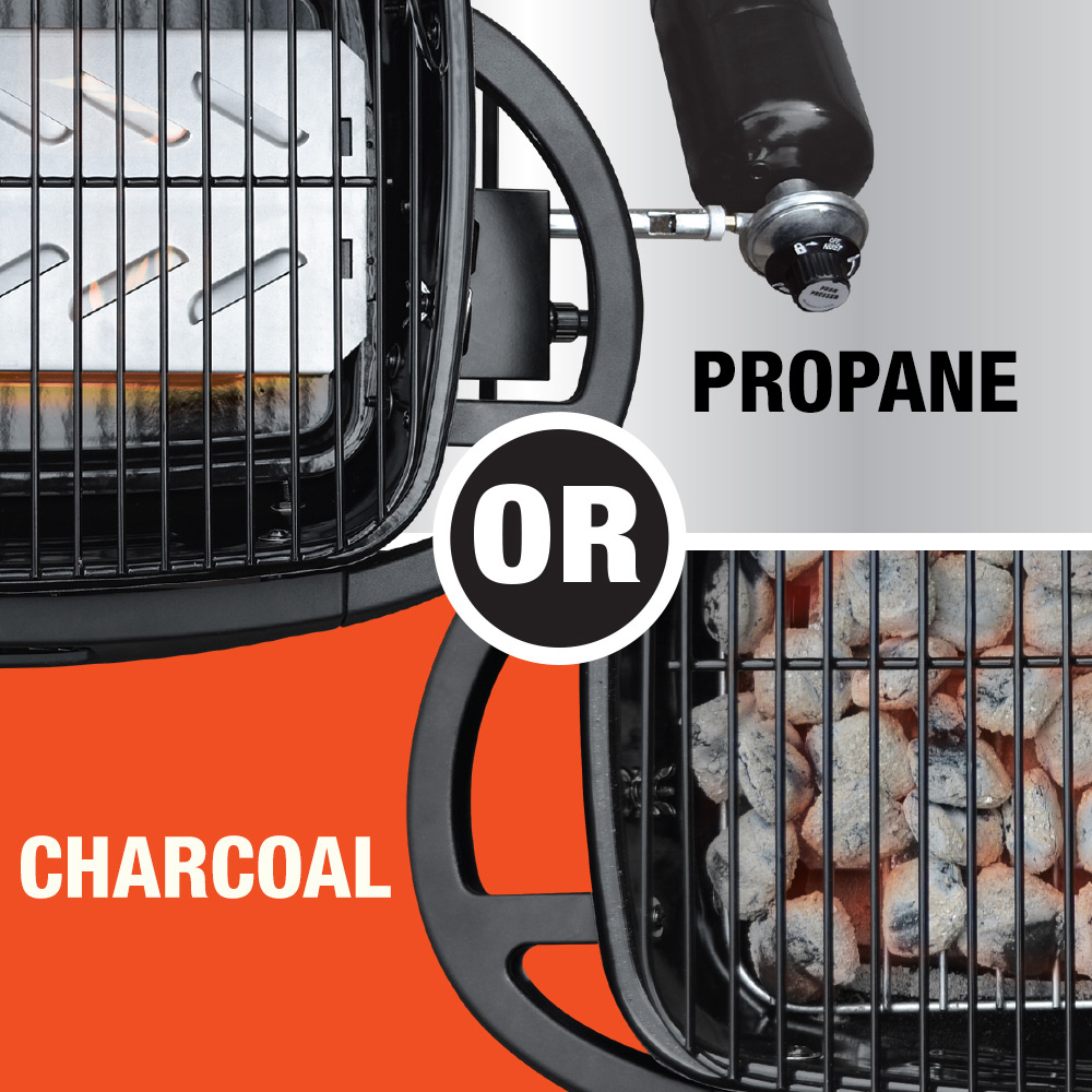Bluerhino¨ Crossfireª LP Gas And Charcoal Portable Grill