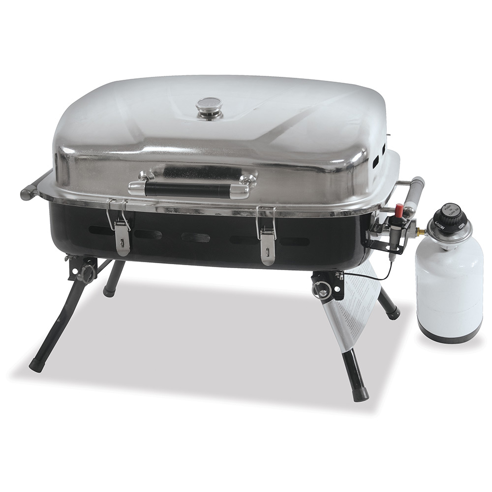 Outdoor Gas Barbecue Grills ~ Stainless steel outdoor lp gas barbecue grill blue rhino